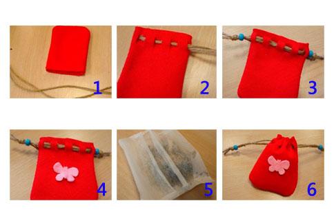 香包制作步骤.(图片提供/台北典藏植物园)