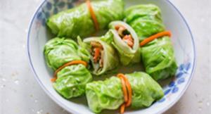 夏日輕食翡翠菜卷 爽脆可口助排毒