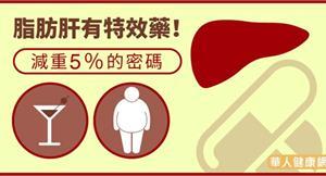 脂肪肝有特效藥!減重5%的密碼