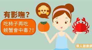 有影嘸?吃柿子再吃螃蟹會中毒?!