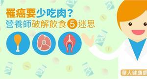 罹癌要少吃肉?營養師破解飲食5迷思