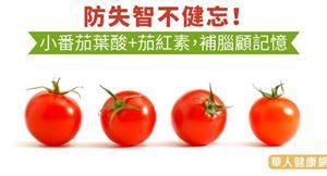 防失智不健忘!小番茄葉酸+茄紅素,補腦顧記憶