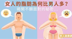 女人的脂肪為何比男人多?揭開不願面對的秘密…