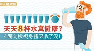 天天8杯水真健康?4面向檢視身體吸收了沒!