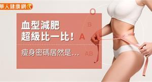 血型減肥超級比一比!瘦身密碼居然是…