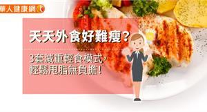 天天外食好難瘦?3套減重輕食模式,輕鬆甩脂無負擔!
