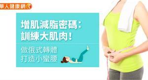 增肌減脂密碼:訓練大肌肉!做俄式轉體,打造小蠻腰