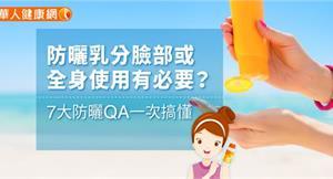 防曬乳分臉部或全身使用有必要?7大防曬QA一次搞懂