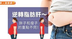 逆轉脂肪肝~胖子和瘦子的重點不同!