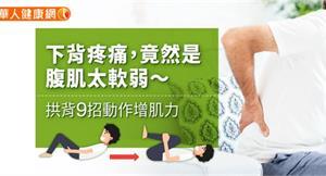下背疼痛,竟然是腹肌太軟弱~拱背9招動作增肌力