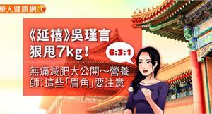 《延禧》吳瑾言狠甩7kg!無痛減肥大公開〜營養師:這些「眉角」要注意