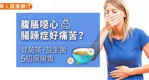 腹脹噁心,腸躁症好痛苦?甘菊茶、益生菌5招保腸胃
