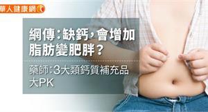 網傳:缺鈣,會增加脂肪變肥胖?藥師:3大類鈣質補充品大PK