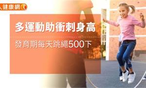 多運動助衝刺身高 發育期每天跳繩500下