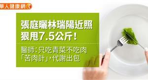 張庭曬林瑞陽近照,狠甩7.5公斤!醫師:只吃青菜不吃肉「苦肉計」,代謝出包
