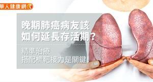 晚期肺癌病友該如何延長存活期?精準治療搭配標靶接力是關鍵!