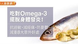《經痛》吃對Omega-3減經痛、防憂鬱