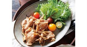 好身材先從自煮瘦身餐開始!活力薑汁燒肉,加入菇類營養更加分