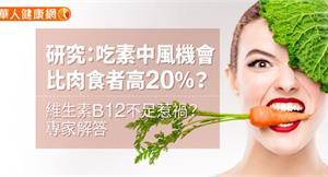 研究:吃素中風機會比肉食者高20%?維生素B12不足惹禍?專家解答