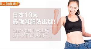 日本10大最強減肥法出爐!斷食、腹式呼吸上榜,減重醫師最愛的是…