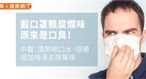 戴口罩飄腐爛味,原來是口臭!中醫:清熱嗽口水、咀嚼增加唾液去除臭味