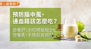 預防腦中風、通血路該怎麼吃?營養師:必吃精氨酸3大營養素,手搖飲有絕配