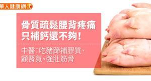 骨質疏鬆腰背疼痛,只補鈣還不夠!中醫:吃豬蹄補膠質、顧腎氣、強壯筋骨