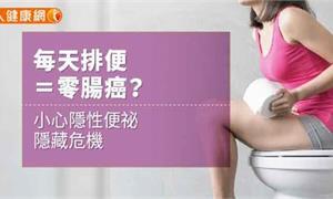 【影音版】每天排便=零腸癌?小心隱性便祕隱藏危機