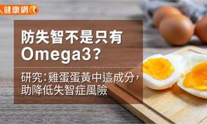 防失智不是只有Omega3?研究:雞蛋蛋黃中這成分,助降低失智症風險
