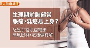 生理期前胸部常脹痛,乳癌易上身?恐是子宮肌瘤罹患高風險群,這樣做有解