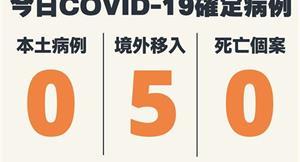 COVID-19/本土+0、新增5例境外移入病例